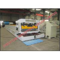 Quality Aluminium And Steel Stepped Tile Roof Tile Roll Forming Machine 3-3.5m/min wholesale
