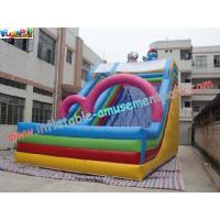 Quality Childrens Commercial grade 0.55mm(1000D, 18 OZ) PVC tarpaulin Inflatable Slide Toys wholesale