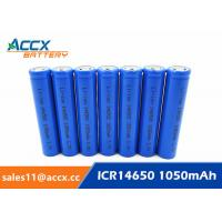 Quality 3.7V lithium rechargeable battery ICR14650 1100mAh 14650 li-ion battery for toy wholesale