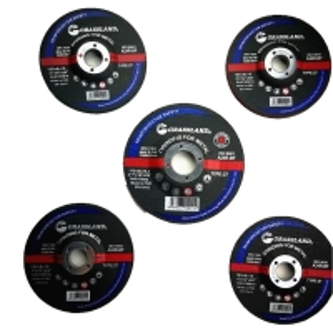 Quality 115mm X 6.4mm X 22.23mm Resin Bonded Grit 24 Abrasive Grinder Discs For Metal Fab wholesale