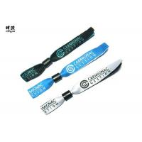 Quality Silver Woven Custom Fabric Wristbands With Embroidery Design Logo wholesale
