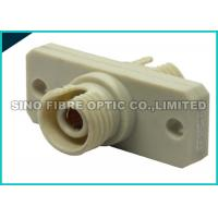 Quality Square Flanged Beige FC to FC Fiber Optic Adapter 500 Mating Durability wholesale