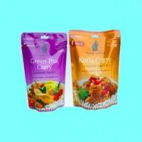 China Snack Foil Printed Food Pouches Packaging With Zipper Euro Hole on sale