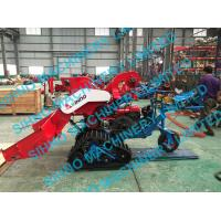 Quality 4LZ-0.7 mini paddy combine harvester with crawler, rice wheat 14HP wholesale