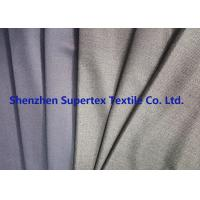 Quality Uniform Stretch Polyester Wool Twill Fabric in Charcoal Melange Grey Color wholesale