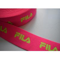 Cheap Spandex / Polyester Eco - Friendly jacquard elastic band , Jacquard elastic straps for sale