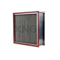 Quality High Temperature Cartridge Air Filter 24 * 24 * 12 Inch , Glass Fiber Hepa Exhaust Filter wholesale