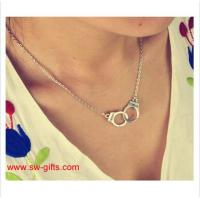 Quality New Fashion Jewelry Handcuffs Choker Pendant Necklace Girl lover Valentine