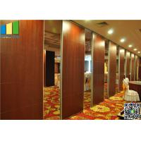 Wooden Surface Folding Partiion Walls , Operable Partition Walls
