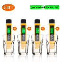 Quality Water Purity Check Meter Test Pen, TDS Meter For Drinking WaterGreen / Red Backlight wholesale
