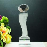 China star shaped crystal tall trophy for new star award on sale
