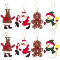 China Animals Pendant Felt Christmas Tree Ornaments Christmas Party Crafts For Children Holiday Ideal on sale
