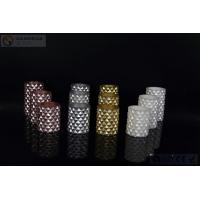 Quality 3 pcs Carved Electric Led Candles with 2*AA Battery Paint Color wholesale