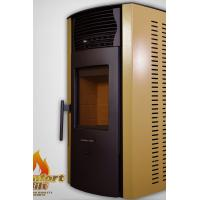 Quality Automatic Pellet Stove White Color , Wood Pellet Fireplace Easy Installation wholesale
