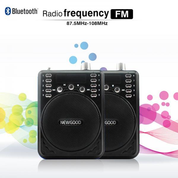 cheap newgood bluetooth voice amplifier speaker with wireless headset microphone fm radio mp3. Black Bedroom Furniture Sets. Home Design Ideas