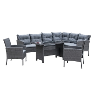 Quality Synthetic Depth 720mm Height 810mm Rattan Wicker Sofas , PE Rattan Sofa Set Rust Proof wholesale