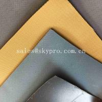 Quality Tan khaki Neoprene Fabric Roll , Hypalon Rubber Fabric for Boats with Matt Surface wholesale