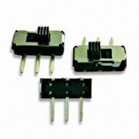 Quality Mini Slide Switch with 12V DC, 0.5A Rated Load, 200G Operating Force, and 5,000 Cycles Lifespan wholesale