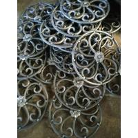 Quality Wrought Iron Elements/ Ornaments/parts  for balusters and gates decorative -- Cast iron grapes leaves wholesale