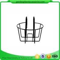 Quality Round Metal Wire Balcony Planting Hanging Baskets / Hanging Pots For Plants wholesale