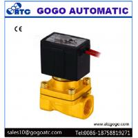 Cheap Two Way 1/4 Inch Port 2 Way Solenoid Valves High Temperature Wire Lead SMC Type for sale