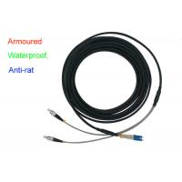Buy cheap Waterproof Armoured Duplex Fiber Patch Cord Indoor 5.0mm Anti - Rat DX LC FC from wholesalers