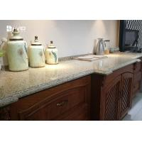Cheap Beige Sparkle Quartz Worktops Glossy Polished Ogee Edge Scratch Resistant for sale