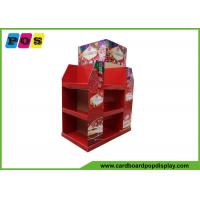 Quality Red Cardboard Pos Half Pallet Point Of Sale Display Stands For Christmas Items Promotion wholesale