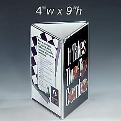 Quality Three Sides Acrylic Menu Holder wholesale