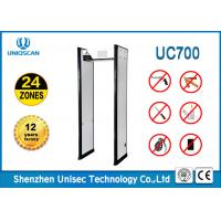 Quality 24 Zones Walk Through Metal Detector For Night Club / Metro 2 Years Warranty wholesale