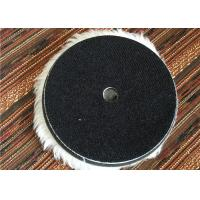 Quality Wool 6 Inch Hook And Loop Polishing Pads , Sheepskin Buffing Pads For Car Cleaning wholesale