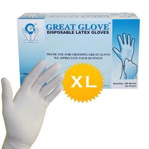 China 9 Length Disposable Examination Large Exam Latex Gloves wholesale on sale