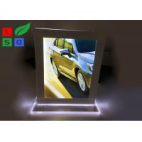 Quality Double Sided LED Crystal Light Box A4 A5 Format Size For Countertop Menu Display wholesale