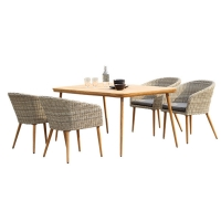 Quality Breadth 310mm Rattan Table And Chair For Outdoor wholesale