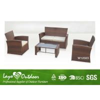 Cheap 4 Piece Patio Set Wicker Resin Patio Furniture Deep Seating Outdoor F