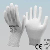 Quality EN388 Certified White Polyurethane PU Coated Palm Fit Delicate Operations Gloves wholesale