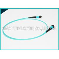 Quality 100Gbps 24 Cores MPO Fiber Optic Cable OM4 Non-pinned Fibre Optical Plenum Jacket Jumper wholesale
