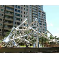 Quality Modern Style Outside Garden Statues Stainless Steel With Mirror Polished Surface wholesale