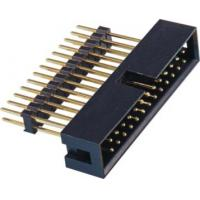 Quality 2.54 Pitch Box Header Connector add housing H=2.5 PA9T black  matting with 5212/2185 ROHS wholesale