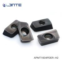 Precision Cnc Lathe Tool Inserts , Indexable Carbide Lathe Tools APMT1604PDER-H2