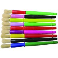 Cheap 9 Colors Plastic Handle Paint Brushes , Colorful Watercolor Paint Brush Set OEM Avaliable for sale