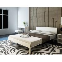 Quality Mealmine board Simple double plate bed 1.8 meters in Nordic design adult bed 1.5m IKEA tatami single bed with Iron legs wholesale