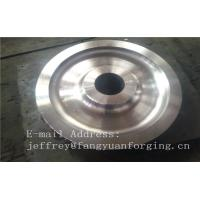Quality 4140 42CrMo4 SCM440 Alloy Steel Rail Forged Wheel Blanks Quenching And Tempering Finish Machining Mine Industry wholesale