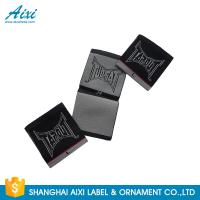 Buy cheap Black Color Personalized Custom Fabric Labels For Clothes , Logo Design from wholesalers
