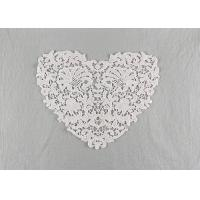 China French Guipure Venice Lace Cotton Lace Neck Applique Water Soluble For Blouses on sale