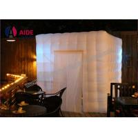 Quality Indoor Commercial Party Photo Booth Decorations , White Inflatable Cube Tent wholesale