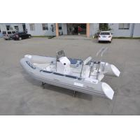 China PVC Small Inflatable Fishing Boats Rib430 Light Grey With Inflatable Tube on sale