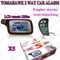 China 2 Way Paging Car Alarm with Auto Alarms Systems FM 1200M LCD Remote Controller TOMAHAWK X5 on sale