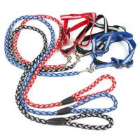 Quality Pet Dog Harness Leash Set Reflective Nylon Leashes Collars Harnesses For Small Medium Dogs Outdoor Walking wholesale