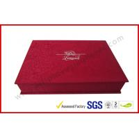 Quality Luxury Silk Gift Packaging Boxes Customized Silver Hot Stamping Logo wholesale